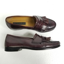 Johnston & Murphy Mens Kiltie Tassel Loafers Sz 10 M Black Leather Dress... - $42.02
