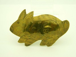 Brass Bunny Rabbit Large Vintage Pin Brooch - $19.79