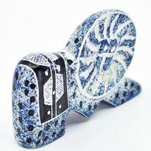 """Crafts Caravan Hand Carved Soapstone """"Denim Blue"""" Lion Figurine Made in Kenya image 5"""