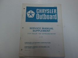 1978 Chrysler Outboard 6 HP Sailor 150 Outboard Motor Service Manual Sup... - $16.82
