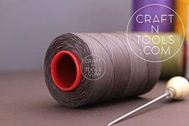 0.8mm Grey Ritza 25 Tiger Waxed Polyester Thread 25 - 500m length (500m spool).  - $79.19