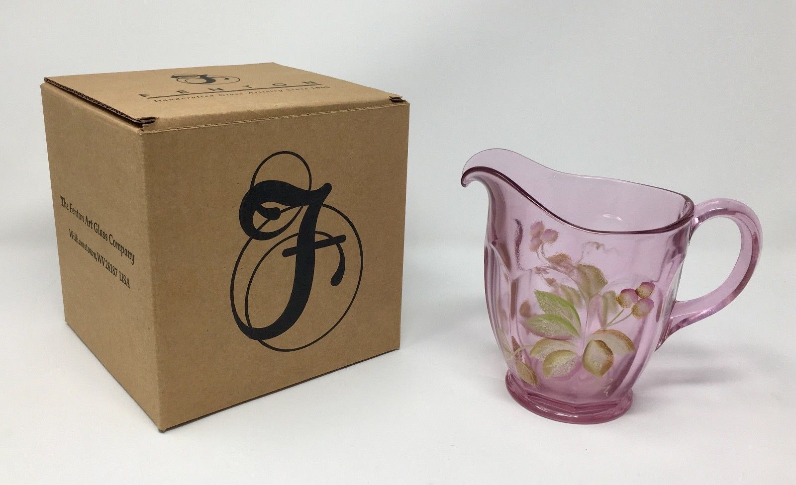 Primary image for Fenton Madras Pink Hand Painted Pitcher - New With Box and Tags! #4264 P6