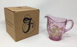 Fenton Madras Pink Hand Painted Pitcher - New With Box and Tags! #4264 P6 - $89.50