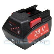 Power Tool Battery For MILWAUKEE 28V M28 V28 48-11-2830 2000 mAh with LE... - $64.24