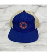 Vintage NEW ERA 70s Mesh CHICAGO CUBS Baseball Hat Snapback Cap Patch - $24.70