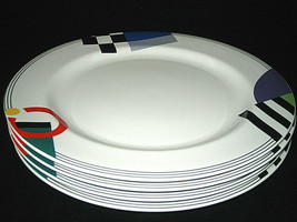 4 MIKASA MAXIMA High Spirits Dinner Plates CAK12 JAPAN LOOK - $134.99