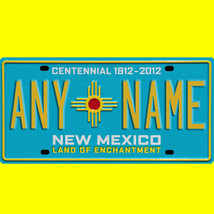 1/43-1/5 scale custom license plate set any brand RC/model car - New Mex... - $11.00