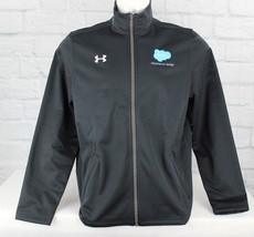 Under Armour men's coldgear loose apparel black zipper jacket size LG/G/G - $24.83