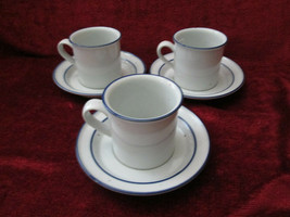Dansk Blue Mist 3 cups and saucers - $14.80