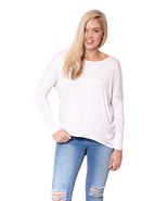 Women's Plain Loose Fit Oversized T Shirt Batwing Slouch Top 8 - 18 -tp17L - $13.95