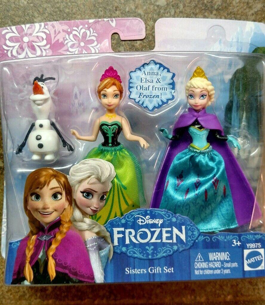 2 Walt Disney 2013 Frozen Sister Gift Sets Princess Elsa Anna Olaf toy figures image 3