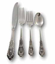Rose Point by Wallace Sterling Silver Flatware Set For 4 Service 16 Pieces - $791.01