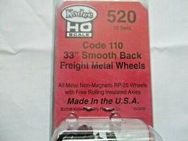 Kadee # 520 33' Smooth Back Metal Freight Wheels Code 110 RP-25, 12 Axles (HO) image 2