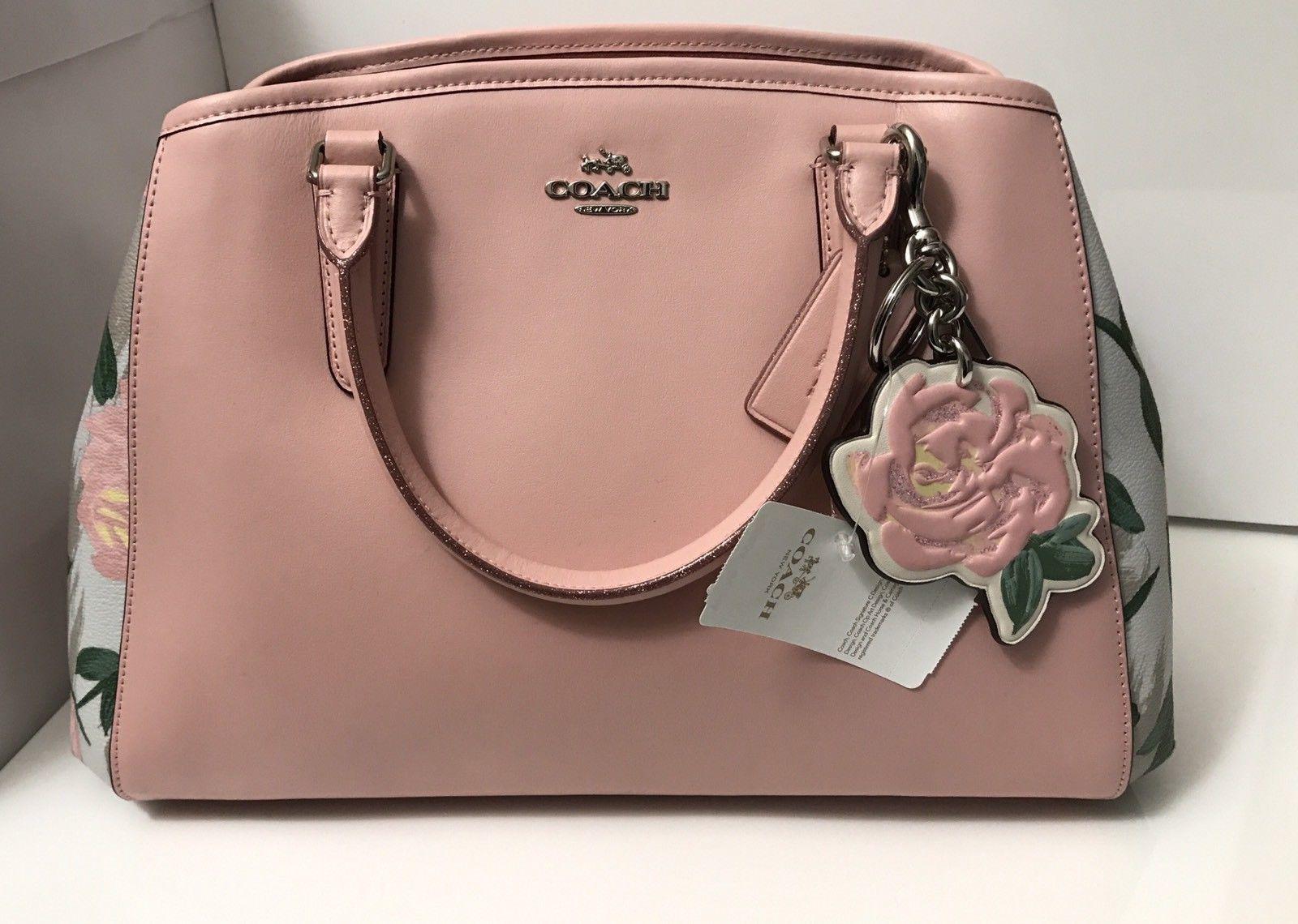 Nwt Coach F25868 Small Margot Carryall Camo And 50 Similar Items Rose Floral Print Pink Multi Handbag