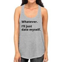 Date Myself Womens Gray Cotton Tanks Casual Summer Sleeveless Shirt - $14.99+