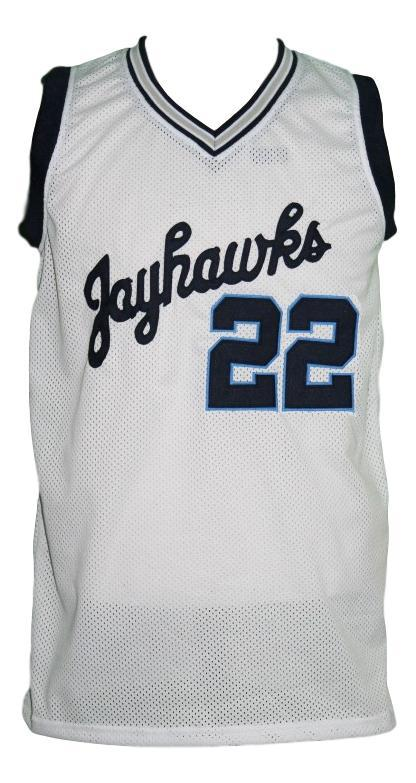 Andrew wiggins  22 custom college jayhawks basketball jersey white   1