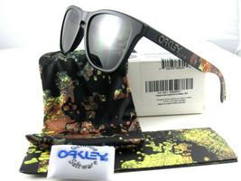 Oakley FROGSKINS Limited Edition Alpha Decay Matte Black w/Dark Grey 24-401 - $149.56