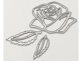 Rose with Leaves Die Set, Scrapbooking, Card Making