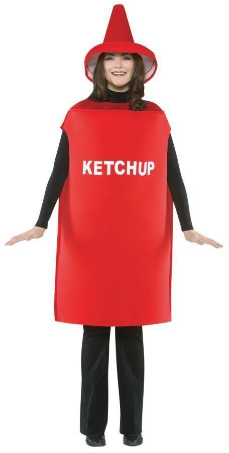 Ketchup Condiment Costume Food Halloween Party Unique Cheap GC305