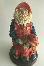 """CHRISTMAS FIGURINE COUNTRY OLD ST. NICK SANTA & TOYS  6.5"""" RESIN COLLECT... - $14.60"""