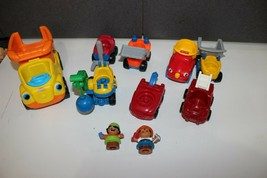 lot Fisher Price Little People construction Worker figures Trucks Tow Dozer dump - $18.95