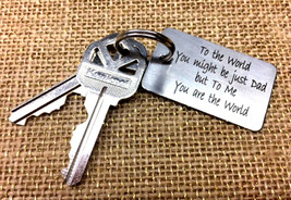 Stainless Steel Personalized Keychain Keytag with Quote, Name or Initials - $9.49