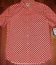 VANS Off The Wall Red Checkers Winsor Surfing Skating Skateboard Shirt M... - $59.39
