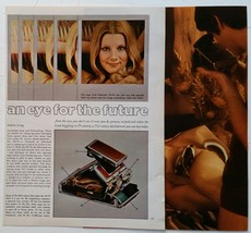 """""""An Eye For The Future"""" SX-70 Camera Article and Photos - Vintage 1973 P... - $9.41"""