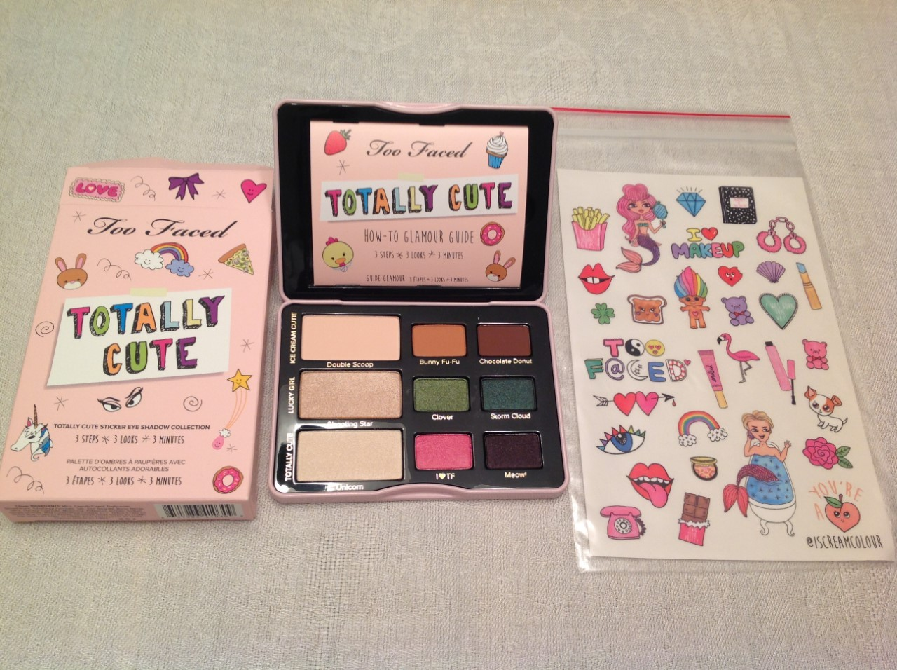 Primary image for 100% AUTHENTIC TOO FACED TOTALLY CUTE STICKER EYE SHADOW COLLECTION, FULL SIZE