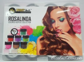 Legacy Nails 12 pcs ROSALINDA Colored Acrylic Collection @0.5 oz each - $35.63