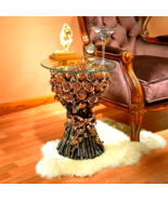 Table of Roses Glass-Topped Sculptural Table - $212.75