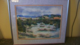 Santa Fe Winter by Darlene Hungate Original Pastel Drawing Framed & Matted - $259.87