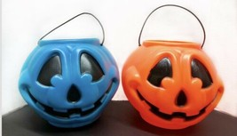 2 General Foam Plastics Blue Jack o Lantern Pumpkin Bucket Halloween Blo... - £14.69 GBP