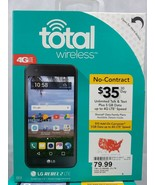 "NEW Total Wireless Prepaid LG Rebel 2 4G LTE Smartphone 5"" screen 6.0 ma... - $42.00"