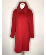 Fleurette Loro Piana Womens 100% Cashmere Coat Jacket Designer Red Sz 10 - $245.00