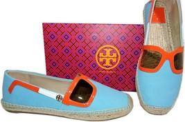 Tory Burch Jewel Oasis Sunny Espadrille Flats Canvas Ballerina Shoe 7.5-... - $136.00