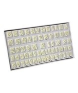 PME Plastic Cutter Set 64pc-Lower and Uppercase Alphabet  - $38.00