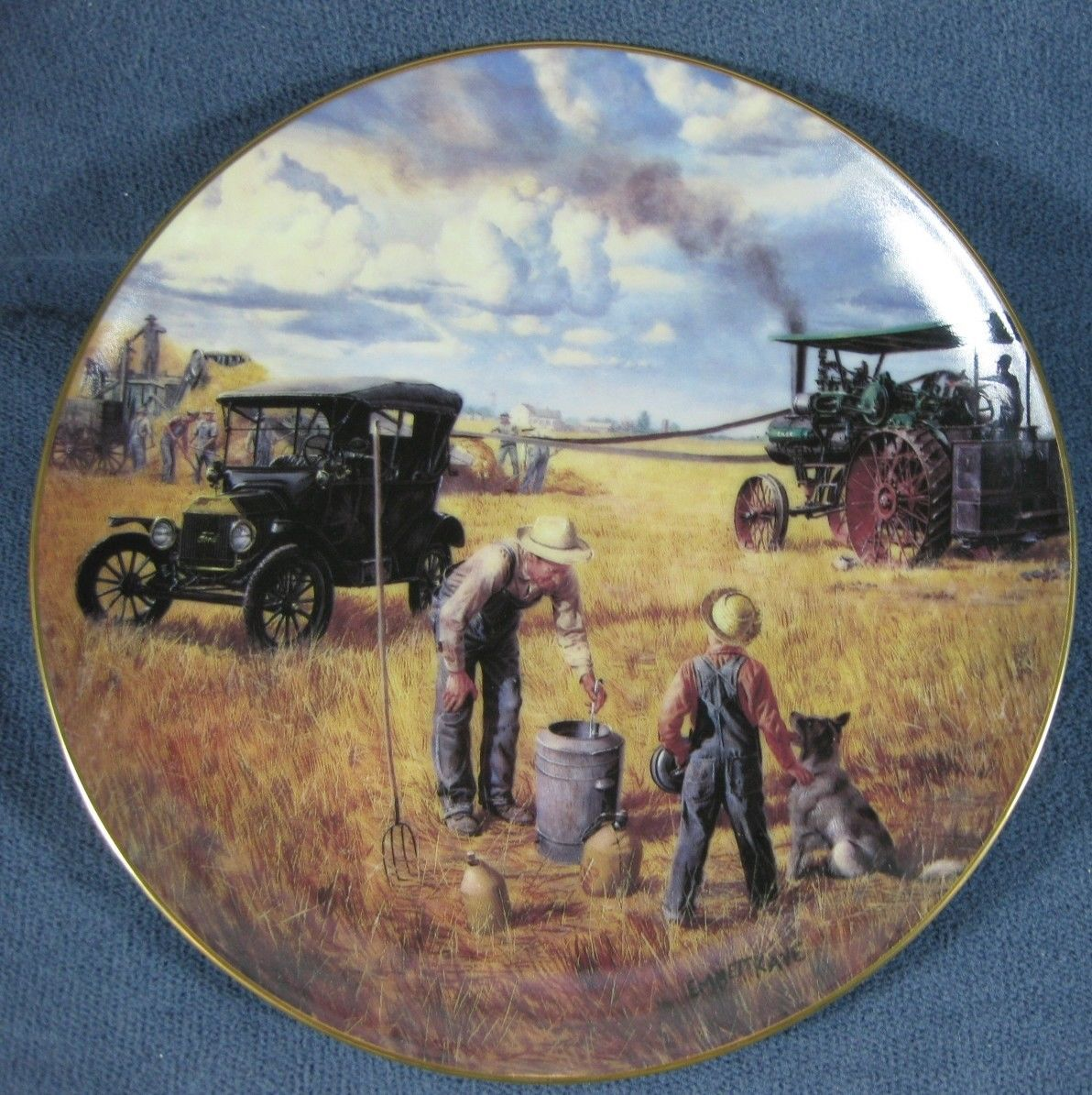Primary image for Bountiful Harvest Collector Plate Danbury Mint Farming Heartland Emmett Kaye