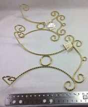 Wall Plate Display Hanger Bright Brass Plated Spiral Wire. Select One Si... - $6.95