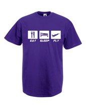 Mens T-Shirt Quote Eat Sleep Fly, Plane Airplane TShirt, Airforce Hawx Shirt - $24.74