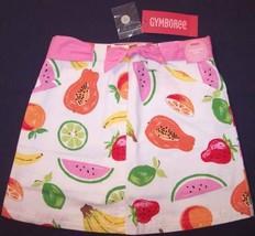 NWT Gymboree Girl's White Skirt Skort with Belt, Tutti Fruity, 4 - $7.99