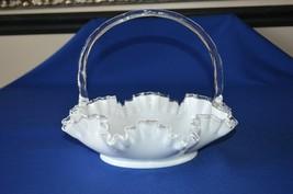 "Fenton Silver Crest Large Basket #7234 SC 11 1/2""  Top Diameter. - $22.28"