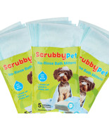 ScrubbyPet No-Rinse Set 15 On the Go Pet Bath Mittens, 3 Bags 5 each - $19.79
