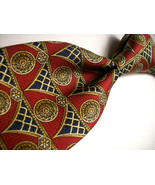 GIVENCHY  Red ART NOUVEAU Mens 100 SILK Necktie s 8-310a - $16.99