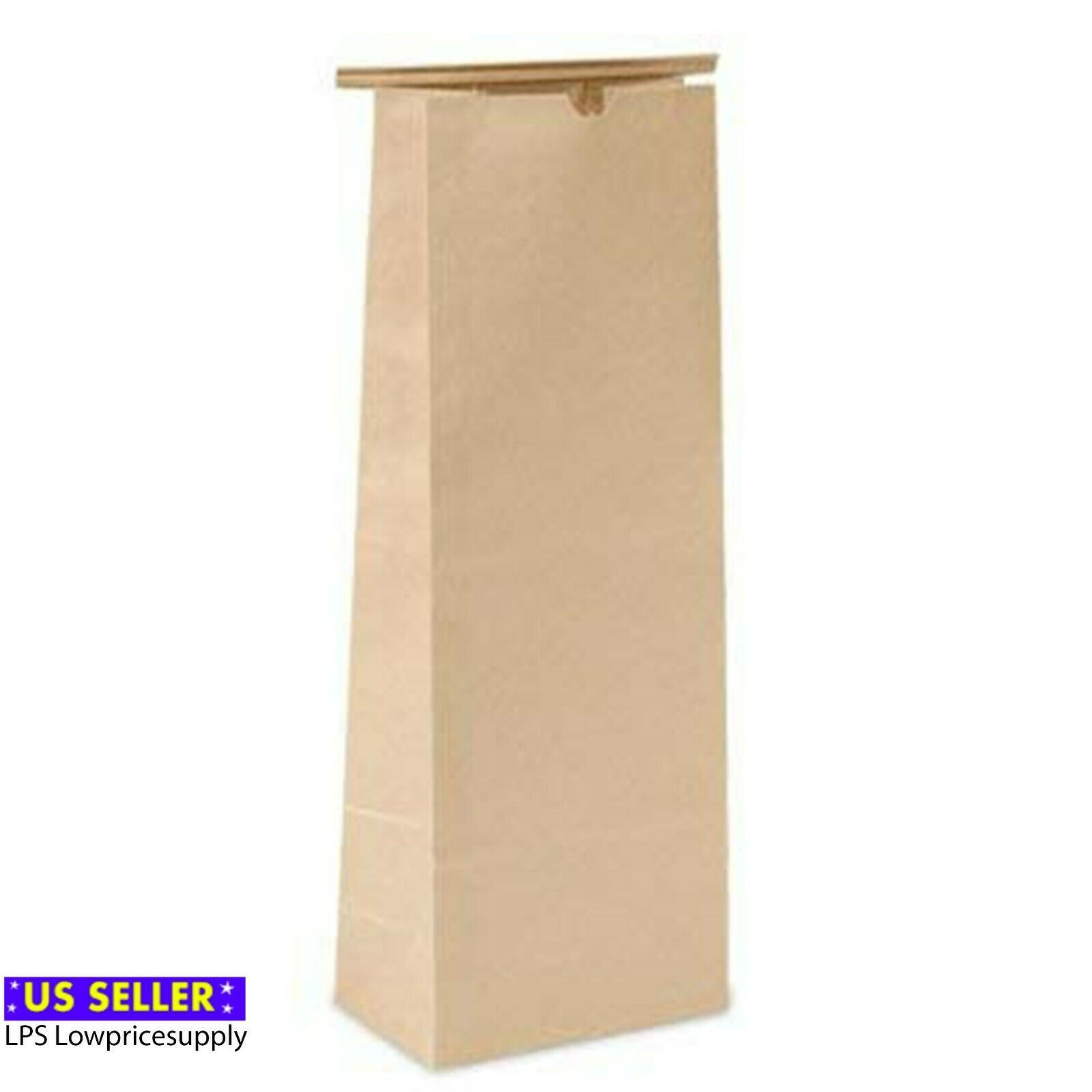 "Primary image for 100 Pack - Solid 5 Lb Kraft Tin Tie Coffee Bags 6-1/2""X4""X18"" For Food Packaging"