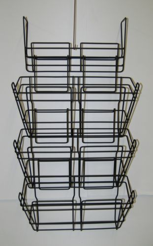 Safco 4151CH Panel Mate Triple File Baskets Charcoal Metal