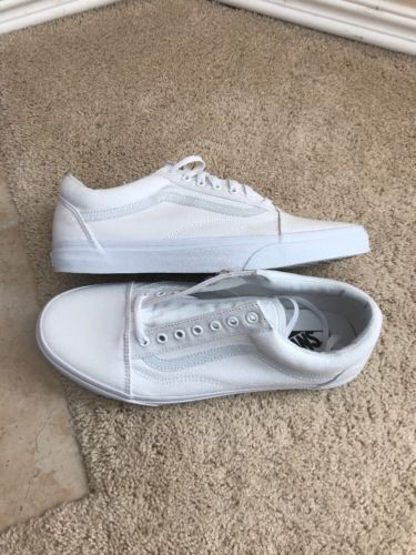 36724e4610883c Vans Old Skool True White Canvas Shoes VN000D3H005 Men s Size 11 Van s Vault