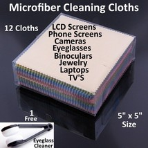Microfiber Cleaning Cloth Laptop Camera Lens Eyeglasses TV Phone LCD Screen Lot image 2