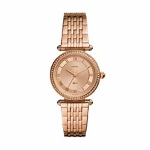 Fossil Women's Lyric Three-Hand Rose Gold-Tone Stainless Steel Watch ES4711 - $123.38