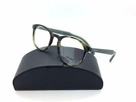 Prada Tortosie Eyeglasses VPR 19S LAB 1O1 50 mm Olive Spotted Italy - $87.27